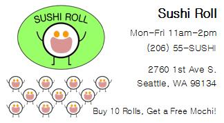 Sushi Roll Punch Card